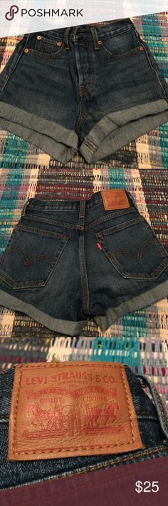 Levi's Jean shorts Wedgie fit and never worn! Levi's Shorts Jean Shorts