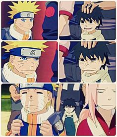 Naruto | Departure from Land of the Waves. This part was so cute. He made him believe in hero's again. I totally fangirled in this moment. Awww <3