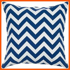 Rizzy Home T05293 Printed Chevron Decorative Pillow, 18 by 18-Inch, Navy - Improve your home (*Amazon Partner-Link)