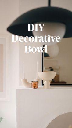 Diy Crafts For Home Decor, Easy Home Decor, Diy Room Decor, Easy Crafts, Diy Cans, Diy Plant Stand, Diy Wedding Decorations, Minimalist Home, Decorative Bowls