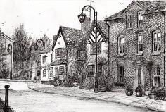 Leigh Arms Prestbury Drawing
