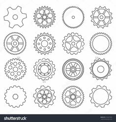 Similar Images, Stock Photos & Vectors of outline gear collection machine gear (wheel cogwheel vector, set of gear wheels, collection of vector gear). Transformers 5, Gear Drawing, Japan Tattoo Design, Gear Wheels, Gear Tattoo, Steampunk, School Murals, Tree Tattoo Designs, Letter Stencils