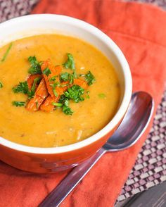 Vegan Creamy Mushroom and Parsnip Soup