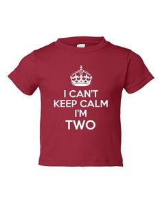 I Cant Keep Calm Im 2 Cute Adorable Funny Kids Toddlers Funny Second Birthday Shirt TEE for all Youth Kids Toddler Sizes & colors on Etsy, $16.58 AUD