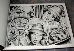 Chicano+Art+Tattoos | Chicano Style Flashes Dragon Tattoo Hamburg Wallpapers - kootation.com