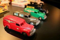 Model cars Chevrolet 1:40,ca.1952.  The 900 series Model cars were 1:43 scale cars and trucks based on Chevolet prototypes and produced during the early to mid 1950's. The assortment included a number of cars, delivery vans and flatbed trucks.
