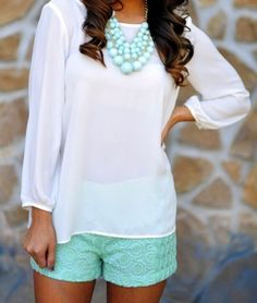 Ok @Kendra Henseler Henseler I know mint is your fave color but I'm loving this outfit for me :)