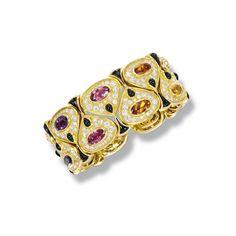 Gem-set, onyx and diamond bangle, 'Kashan', Marina B | Lot | Sotheby's