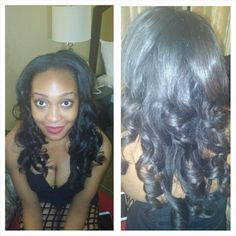 Crochet Hair Middle Part : Middle Part Curls on Pinterest Short Hair Extensions, Ethiopian Hair ...