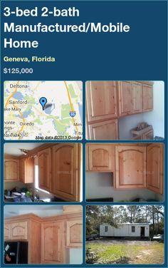 3-bed 2-bath Manufactured/Mobile Home in Geneva, Florida ►$125,000 #PropertyForSale #RealEstate #Florida http://florida-magic.com/properties/9321-manufactured-mobile-home-for-sale-in-geneva-florida-with-3-bedroom-2-bathroom