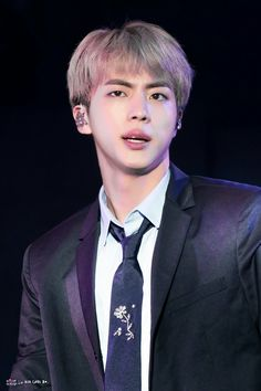 At the final scheduled event prior to BTS going on an official extended break period, BTS's Jin wowed the fans with his visual game peaking at full bloom. Seokjin, Namjoon, Taehyung, Jin Kim, Bts Jin, Jimin, Choppy Bangs, Album Bts, Forever