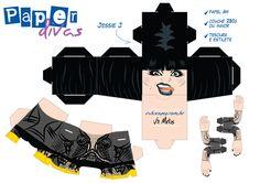 3d Paper, Paper Toys, Paper Crafts, Paper Divas, Jessie J, Jumping Jacks, Fabric, Character, Printables