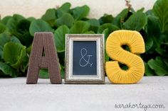 yarn wedding monogram