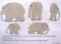 "Maestra Mariangela: PROGETTO ACCOGLIENZA "" ELMER L'ELEFANTE VARIOPINTO"" Oita, Place Cards, Place Card Holders, Elmer The Elephants, Lab, Calendar"