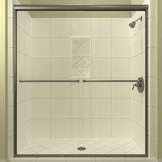 Arizona Shower Door Euro 56-In To 60-In W X 70.5-In H Brushed Nickel S