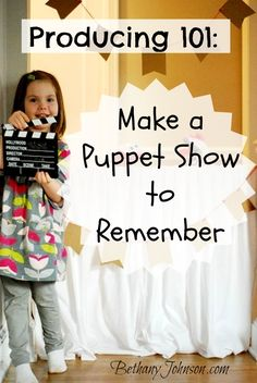 Kids crafts are great fun, but they are even more fun when you and your kids get to play with them.  A puppet show is the perfect way to combing kids crafts with playtime.