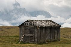 old wooden shed in Dolomites