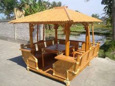 Bamboo Furniture, Outdoor Furniture, Outdoor Decor, Wooden House Design, Bamboo Building, One Storey House, Bahay Kubo, Bamboo Architecture, Bamboo House