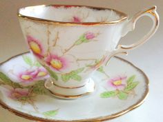 Silver Birch Royal Albert Tea Cup and Saucer, English Tea Cups, Antique Teacups…