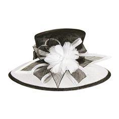Black and White Sinamay Hat