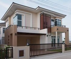Adorable Modern Architecture Building Ideas - The idea of modern architecture in general was first originated around the - Another name for the Modern style of house would be Contem. House Outside Design, House Front Design, Small House Design, Bungalow Haus Design, Modern Bungalow House, Residential Building Design, Home Building Design, Building Ideas, 2 Storey House Design
