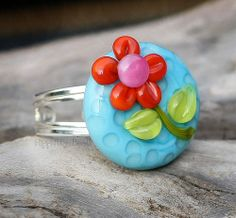 Another Flashy Flower ring