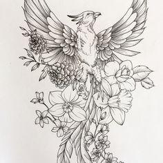 Sketch Pheonix Drawing - Phoenix Sketch Sleeve Tattoos Feather Tattoos Phoenix Tattoo Phoenix Bird Sketch At Paintingvalley Com Explore Collection Of Tattoo Sketch Phoenix Pho. Future Tattoos, New Tattoos, Body Art Tattoos, Sleeve Tattoos, Tatoos, Phoenix Design, Phoenix Tattoo Design, Tattoo Phoenix, Phoenix Tattoo Feminine