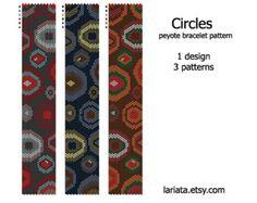 Circles - Peyote Bracelet Pattern - INSTANT DOWNLOAD