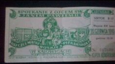 Old ticket to Mass with John Paul II