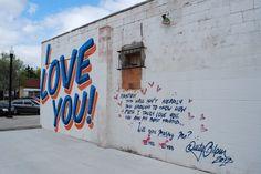Photo by Jennifer James, jenx67.com | Plaza District I LOVE YOU Graffiti