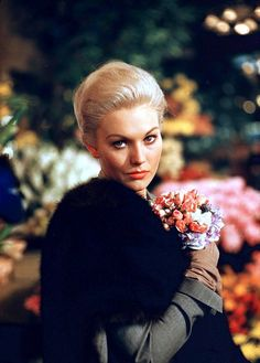 "Kim Novak on the set of ""Vertigo"""