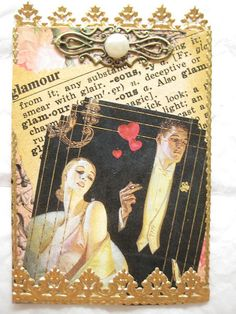 Vintage Dictionary Page ATC