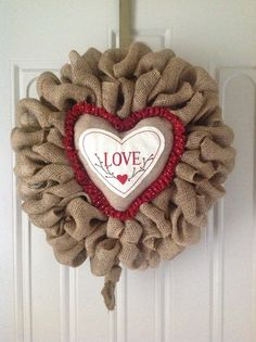 Valentines with burlap