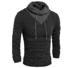 c3d2552145b0 Men s Sweater Pullover 2017 Male Brand Casual Slim Sweaters Men Thin Delta  Stitching Hedging High Collar
