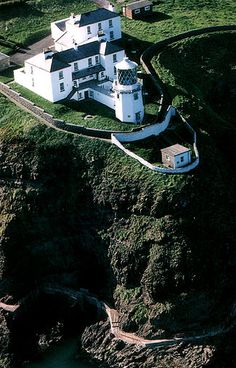 Blackhead Antrim Lighthouse marks the northern extremity of Belfast Lough.