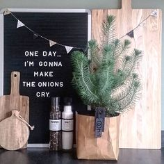 Funny onion letter board idea: One day.I'm gonna make the onions cry.