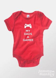 Hey, I found this really awesome Etsy listing at https://www.etsy.com/listing/156434551/my-dads-a-gamer-baby-one-piece