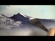 Pintura Óleo Principiante DVD trailer - Pintura con Kevin CON ESPATULA LA NIEVE EN LA MONTAÑA