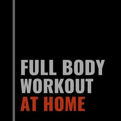 Full Body Workout At Home, At Home Workouts, Going To The Gym, Home Workouts, Home Fitness