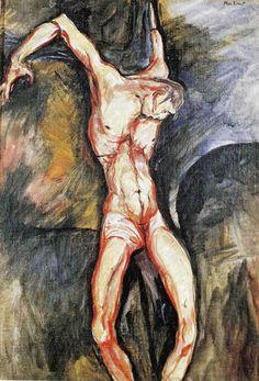 Max Ernst (Brühl Cruxifix, Oil on canvas, 55 x 38 cm… Max Ernst, Outsider Art, Van Gogh, Statues, Modern Art, Contemporary Art, George Grosz, Jesus Painting, Architectural Prints