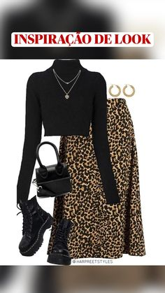 Winter Fashion Outfits, Edgy Outfits, Retro Outfits, Cute Casual Outfits, Look Fashion, Fall Outfits, Summer Outfits, Summer Skirts, Polyvore Outfits Casual