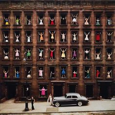 """""""Girls in the Windows"""" Ormond Gigli (Photographer)  NYC 1960 /The story behind the photo (by Ormond Gigli)  @ http://www.ormondgigli.com/"""