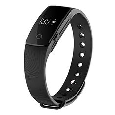 Zomtop ID107 Bluetooth 40 Smart Bracelet smart band Heart Rate Monitor Wristband Fitness Tracker for Android iOS SmartphoneBlack -- Click image for more details. (Note:Amazon affiliate link)