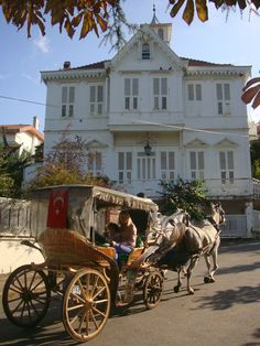 A beautiful Turkish house in Büyükada, Istanbul. (Buyukada is the largest of the nine so-called Princes' Islands in the Sea of Marmara, near Istanbul.) Turkey