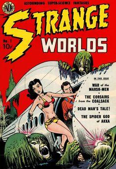 Comic Book Cover For Strange Worlds Issue #1 Avon Comics
