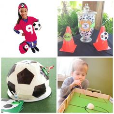 Soccer Celebrations from Start to Finish Soccer Theme, Basketball Birthday, Soccer Party, Sports Party, Sports Themed Birthday Party, 2nd Birthday, Birthday Ideas, Mickey Mouse Parties, Minnie Mouse