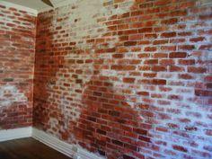 paint a fake brick wall | TAKE DEEP BREATH - WISIT WWW.ODDECH.PL -