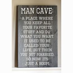Rustic  Man Cave Wood Sign by HammerandLaceinc on Etsy #mancave