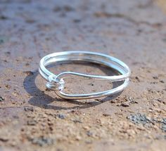 Sterling. Silver. Simple. Ring.. $28.00, via Etsy.