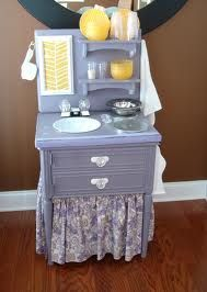 play kitchens homemade - Google Search set it up in the kitchen so they can cook along with you